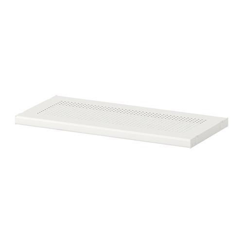 АЛЬГОТ Полка - металл белый, 40x18 см
