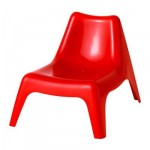 BUNSЁ Children's garden chair - red