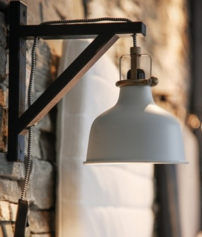 The lamp in the style loft with his own hands