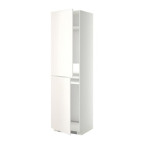 МЕТОД Высок шкаф д холодильн/мороз - 60x60x220 см, Веддинге белый, белый