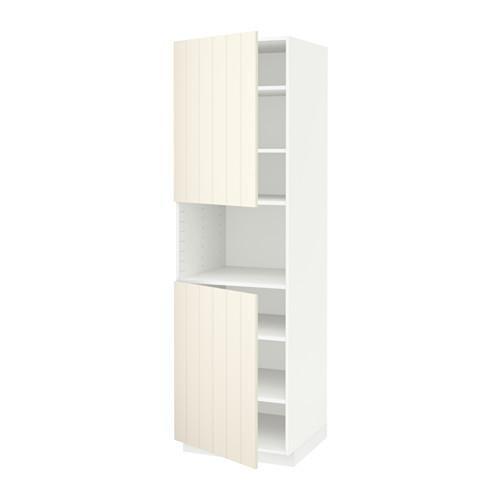 beste selectie vangst beste prijzen METHOD Hoge kast d / magnetron / 2 deuren / planken - wit ...