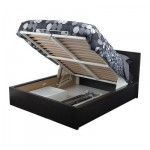 МАЛЬМ Кровать с подъемным механизмом - черно-коричневый, 160x200 см