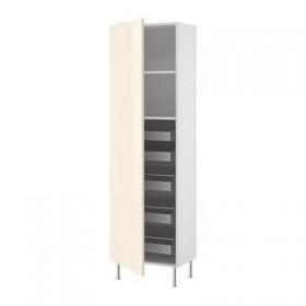 FAKTUM Mobile alto con cassetti / ripiani - Astratto crema, 60x211x37 vedere