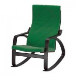 Poeng rocking chair - Sandbakka green, black and brown