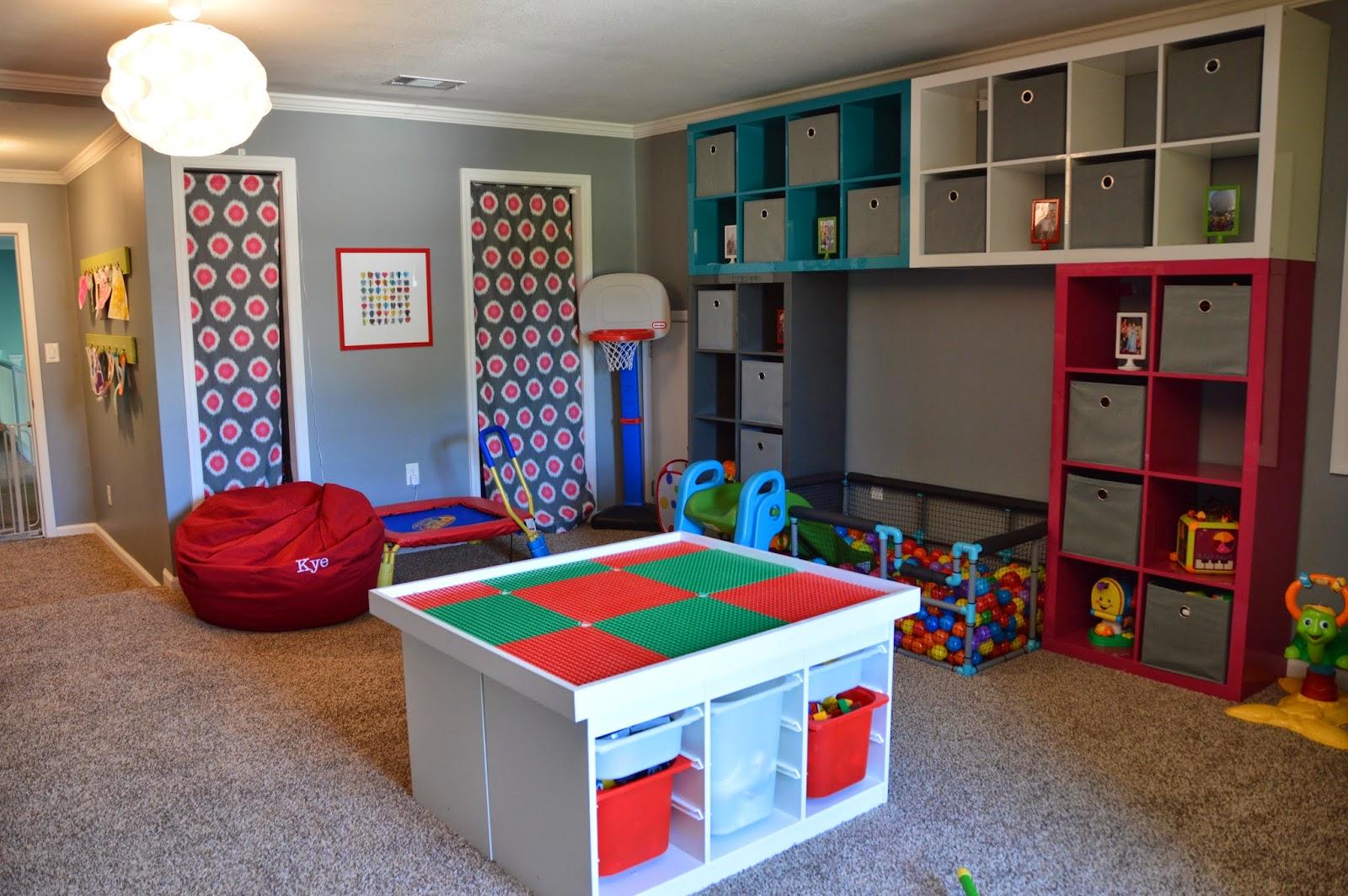 Sala De Juegos Infantiles Con Ikea Stuva Y Kallax - Sala-juegos-nios