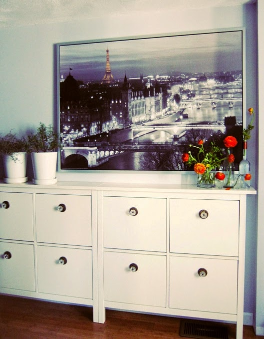 Meubles hemnes hemnes meuble tv teint blanc with meubles for Meuble tv hemnes