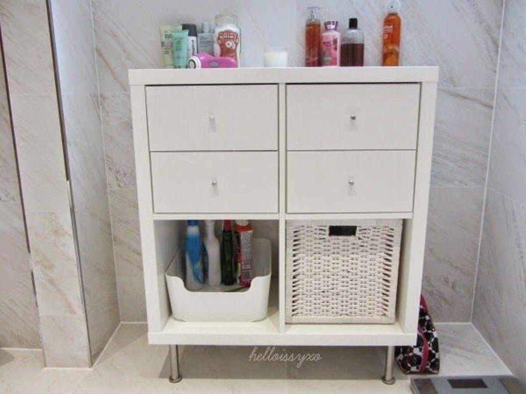 Kallax IKEA-tavaratalon kylpyhuoneessa