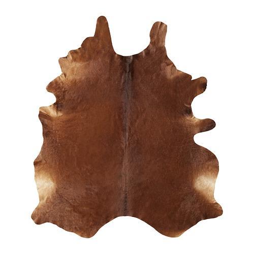 KOLDBI skóry wołowej - brązowy / biały