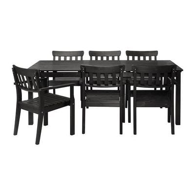 Ängsö National Park Table and chairs 6 - black-brown