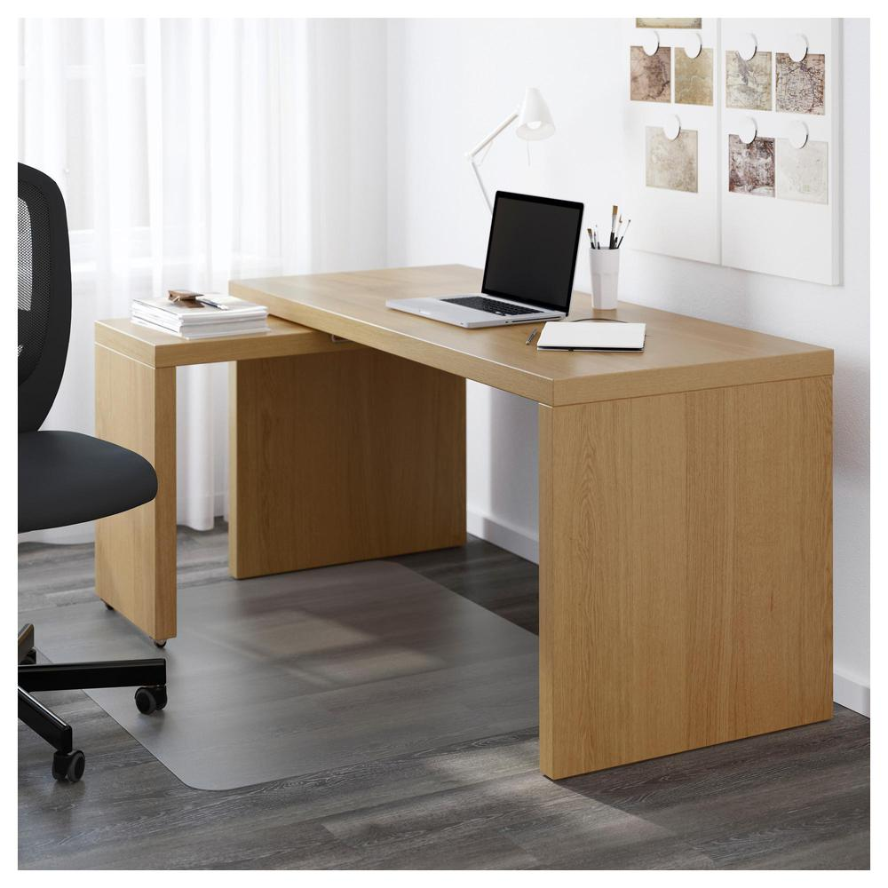Tableros De Escritorio Ikea.Malm Escritorio Con Panel Extraible Chapa De Roble 002 141 81