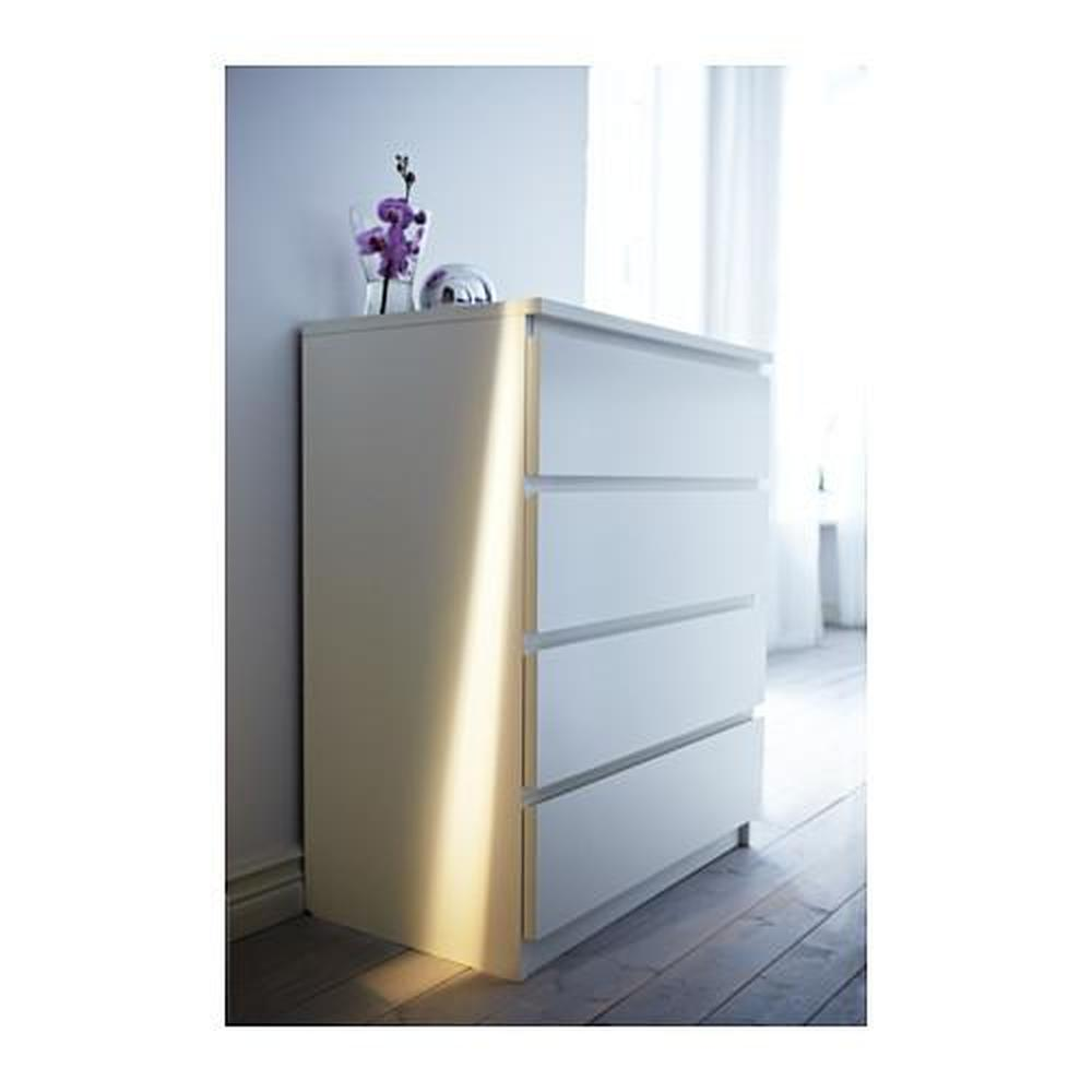 Ladenkast Wit Malm.Malm Ladekast Met 4 Laden Wit 80x100 Cm 002 145 53 Recensies