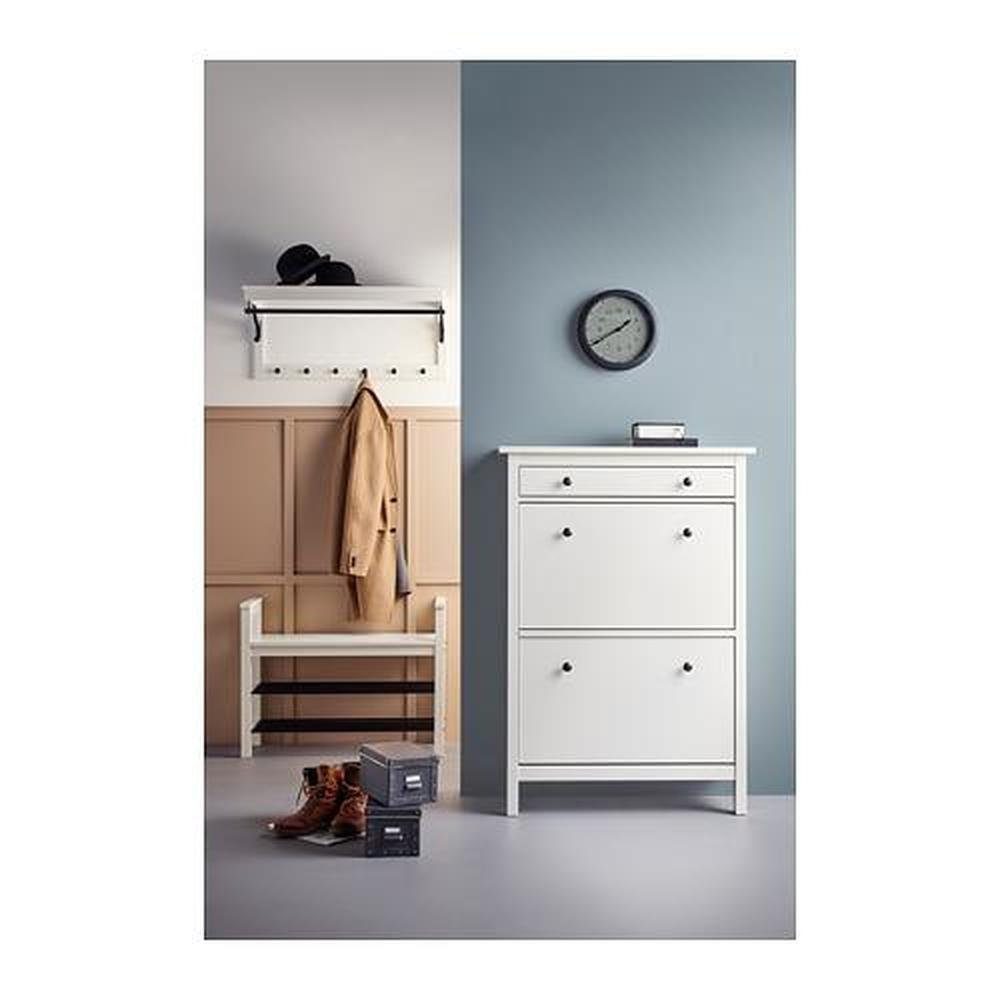 Wit Schoenenrek Ikea.Hemnes Bank Met Wit Schoenenrek