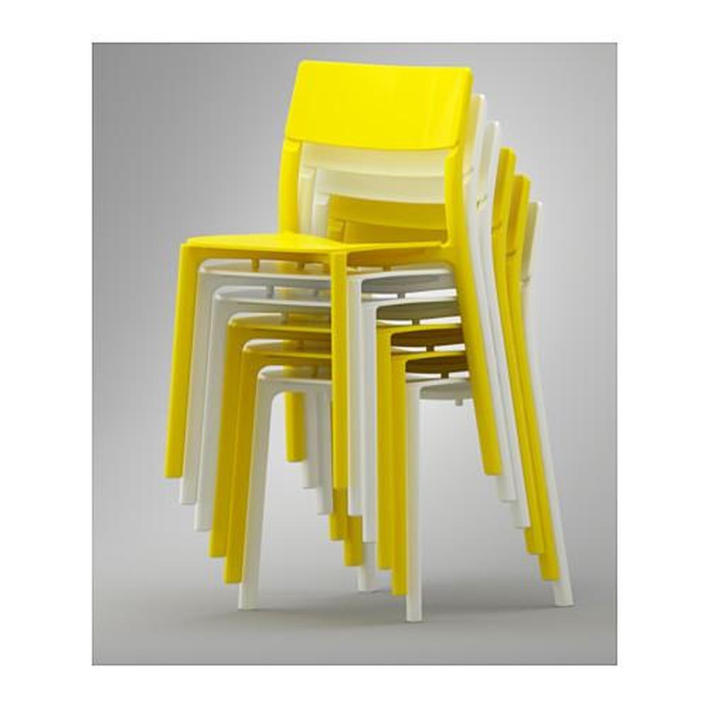 Mesa con 4 sillas IKEA PS 2012 JANINGE bambú, blanco
