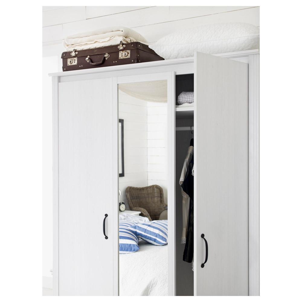 Brusal armadio 3 porta bianco recensioni for Armadio brimnes ikea