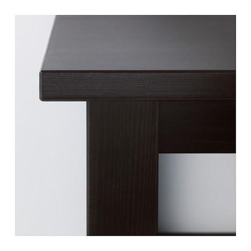 Elegant HEMNES Console Table   Black Brown