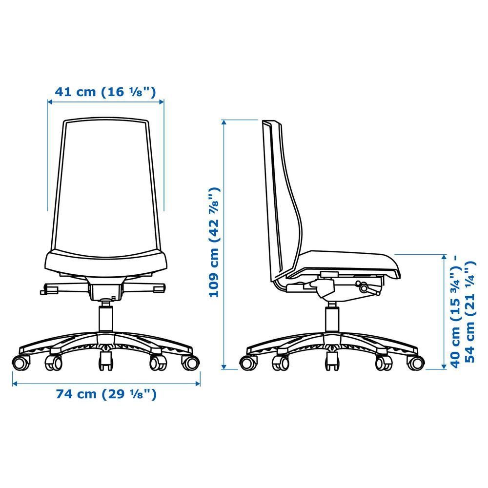 VOLMAR Krzesło robocze Underred czarne