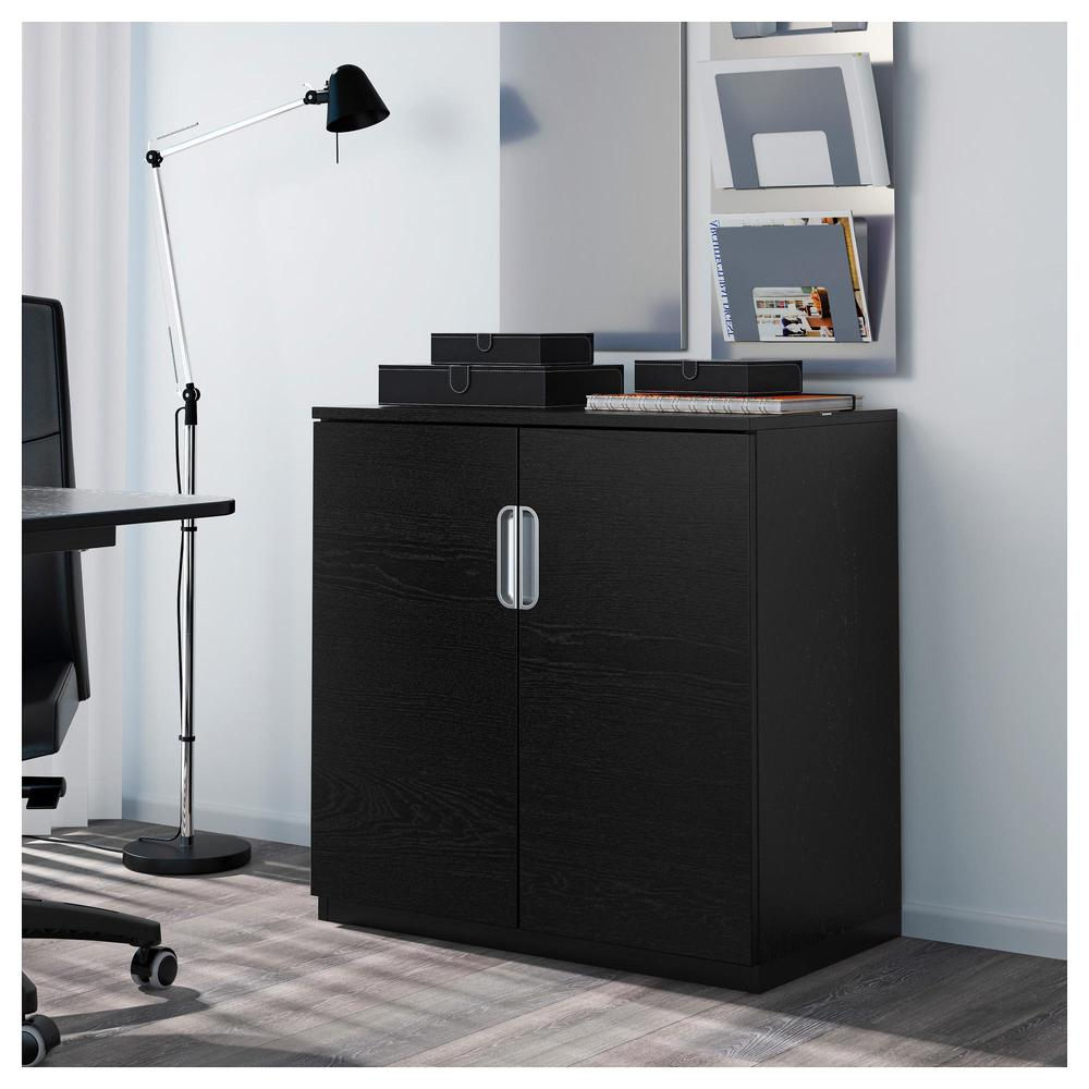 Galant Cabinet With Doors Black Brown