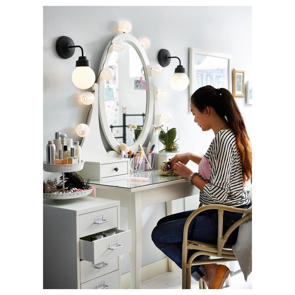 Hemnes Dressing Table With Mirror 003