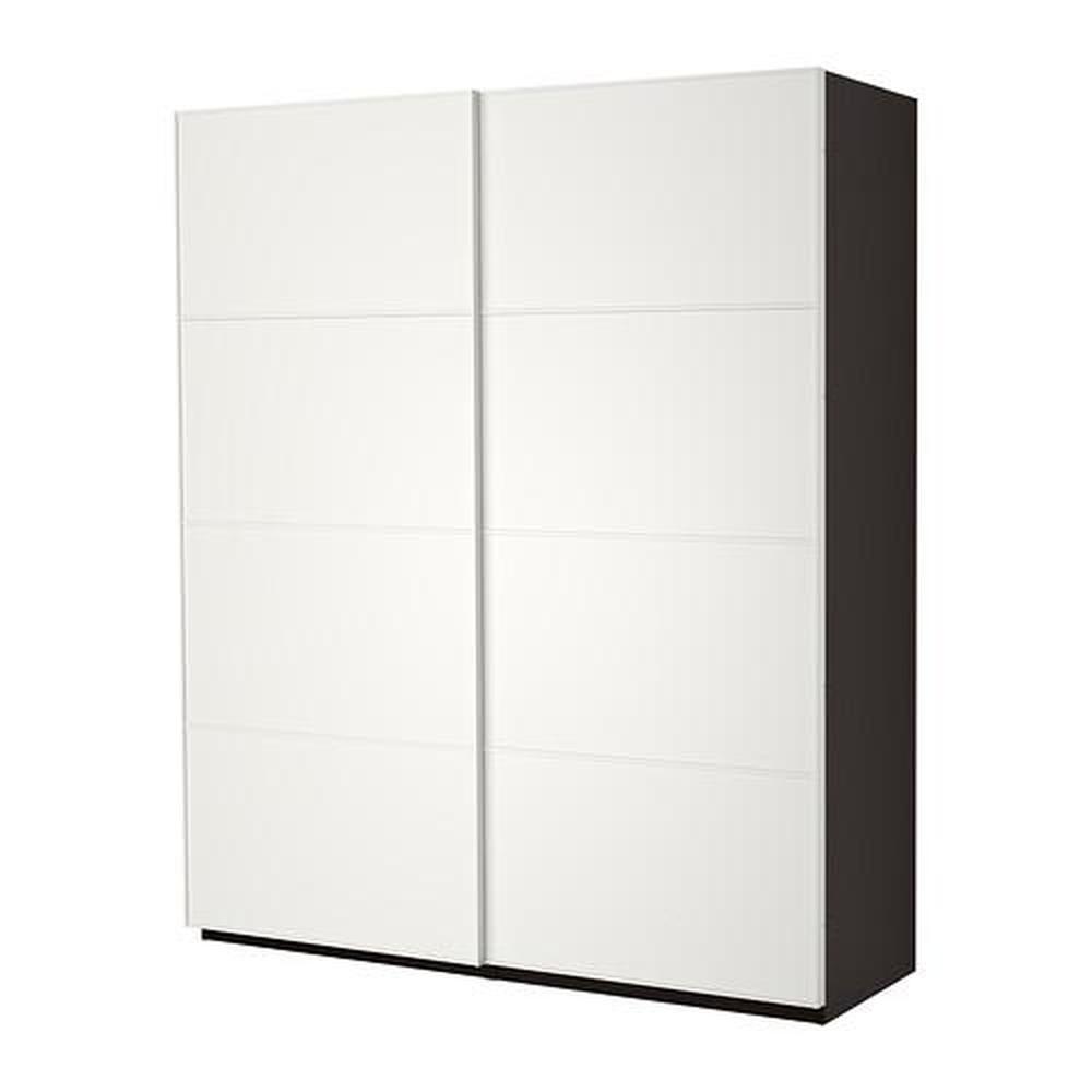 Armadio Ikea Pax Ante Scorrevoli.Armadio Pax Con Ante Scorrevoli Nero Marrone Mehamn Bianco