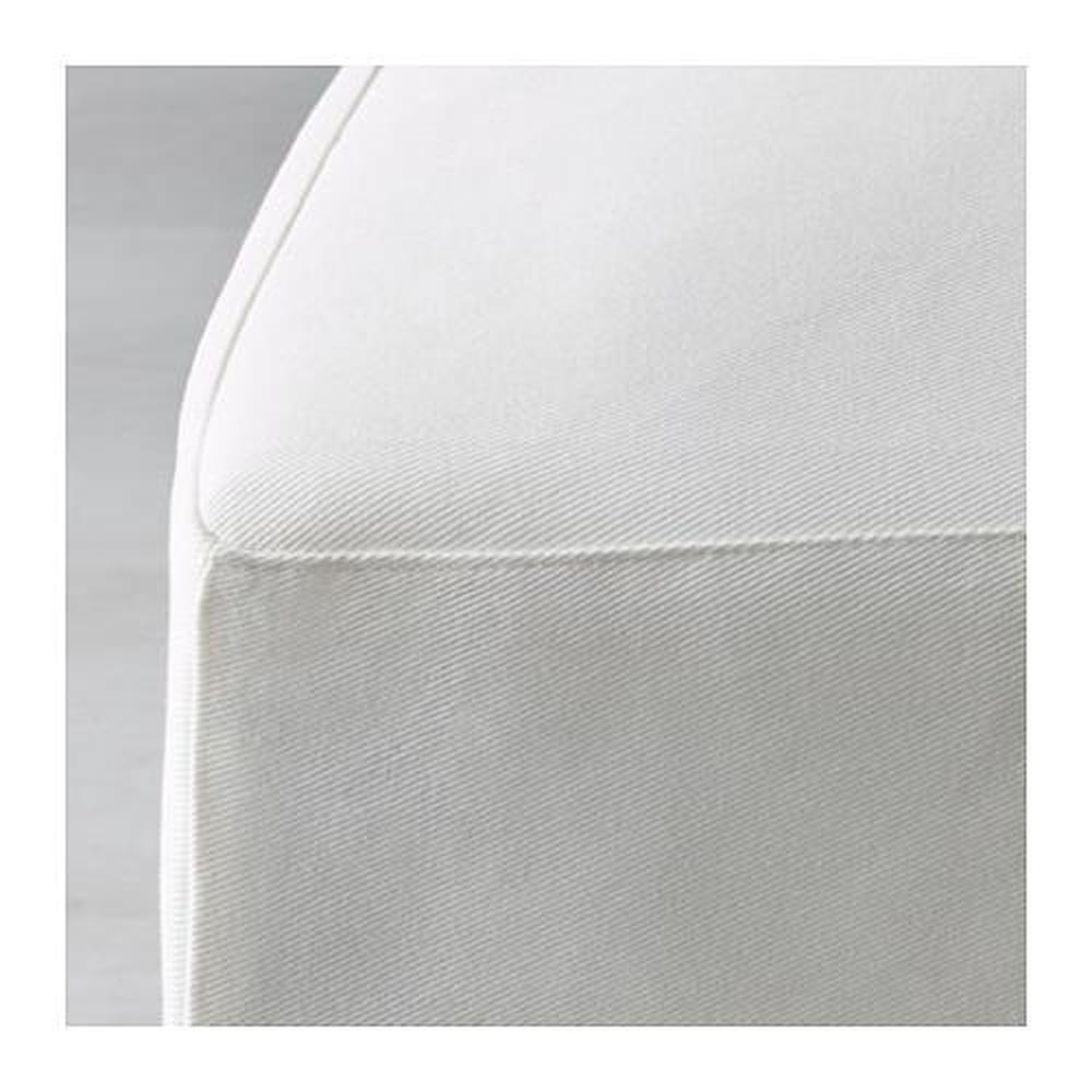HENRIKSDAL Stuhl mit langem Bezug, Blekinge weiß. In den