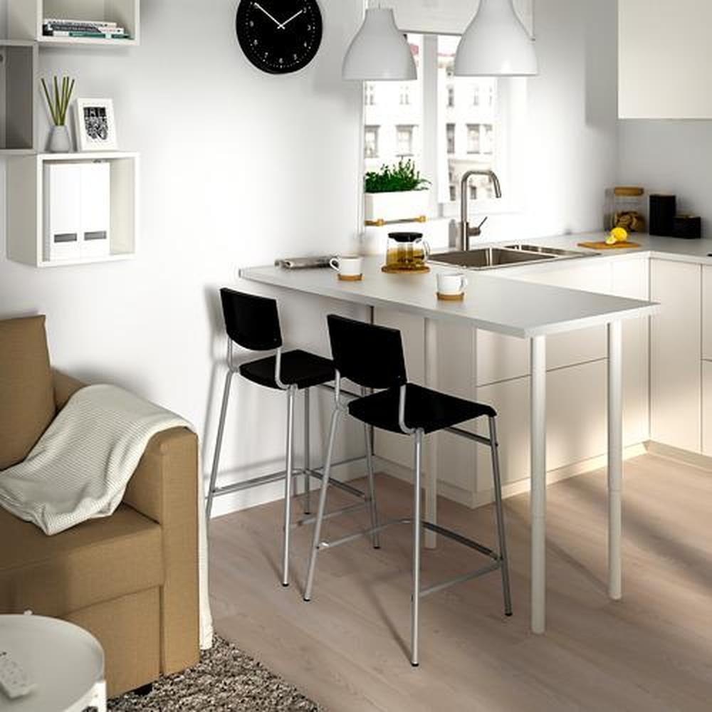STIG barstol svart silver 54x44x90 cm
