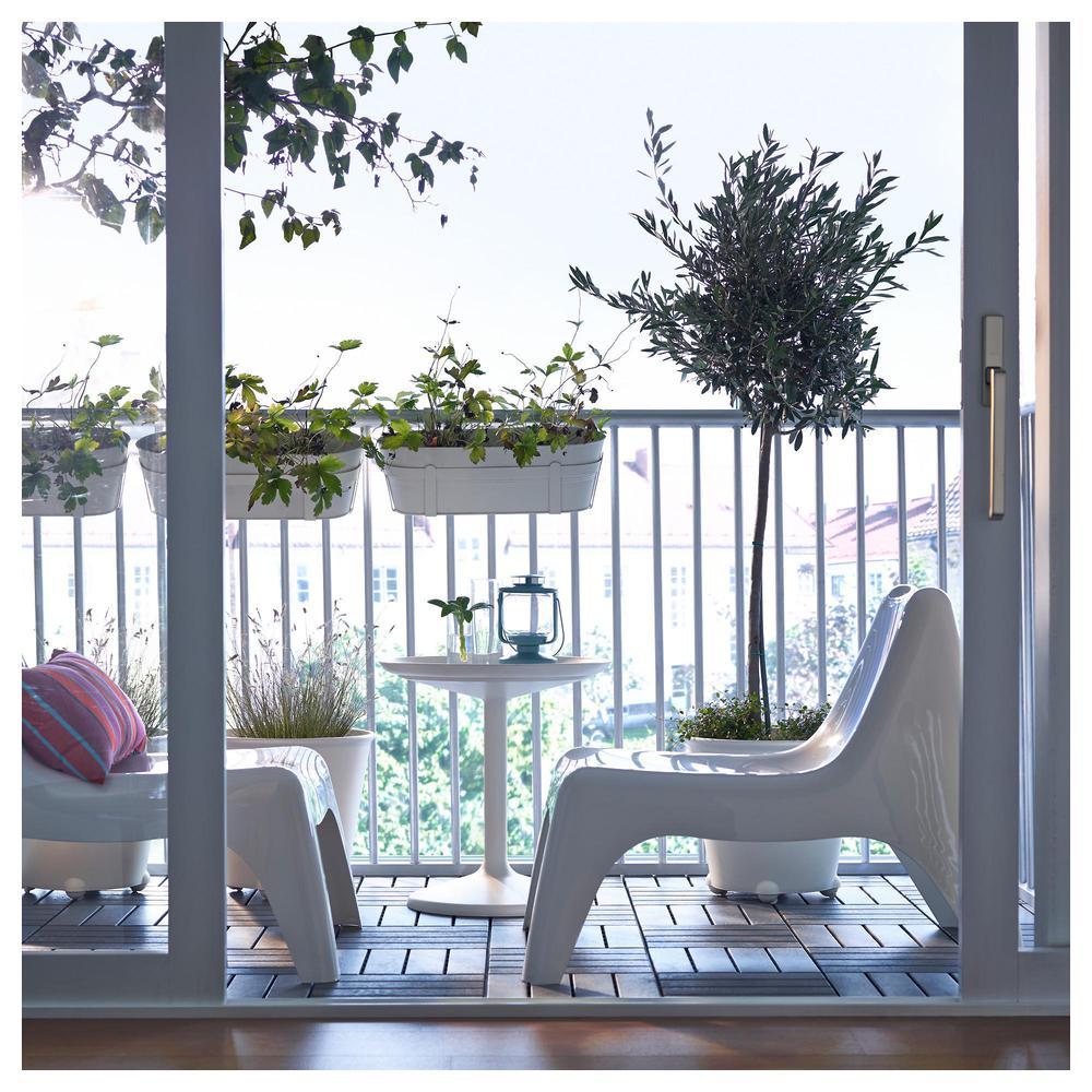 IKEA PS VÅGÖ silla de jardín luz blanca