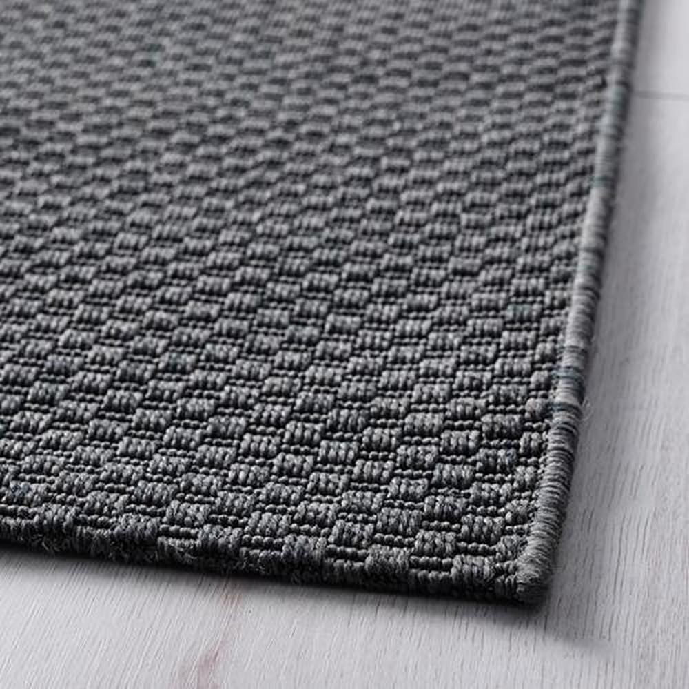 Peau De Mouton Grise Ikea morum tapis, non pelucheux, pour la maison / rue gris foncé 80x200 cm