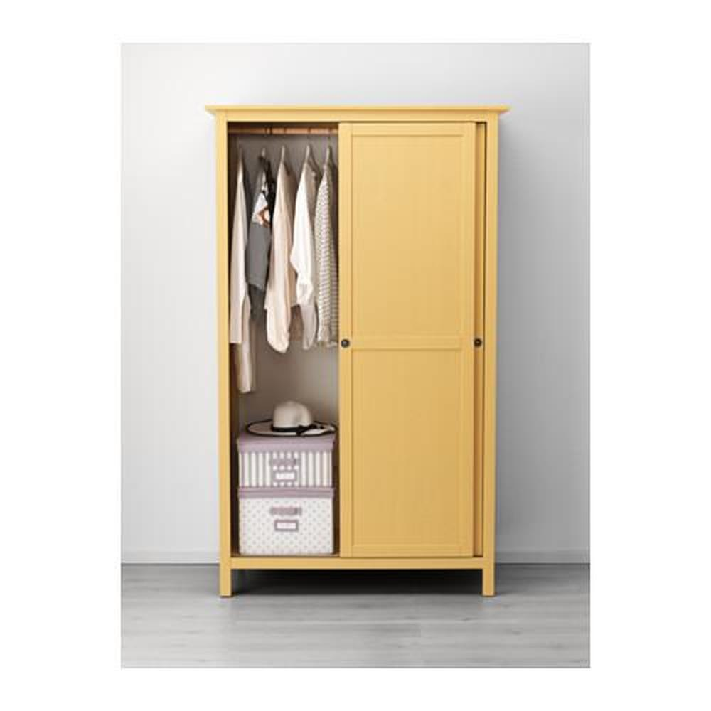 Guardaroba Hemnes Ikea.Hemnes Wardrobe With 2 Sliding Doors Yellow