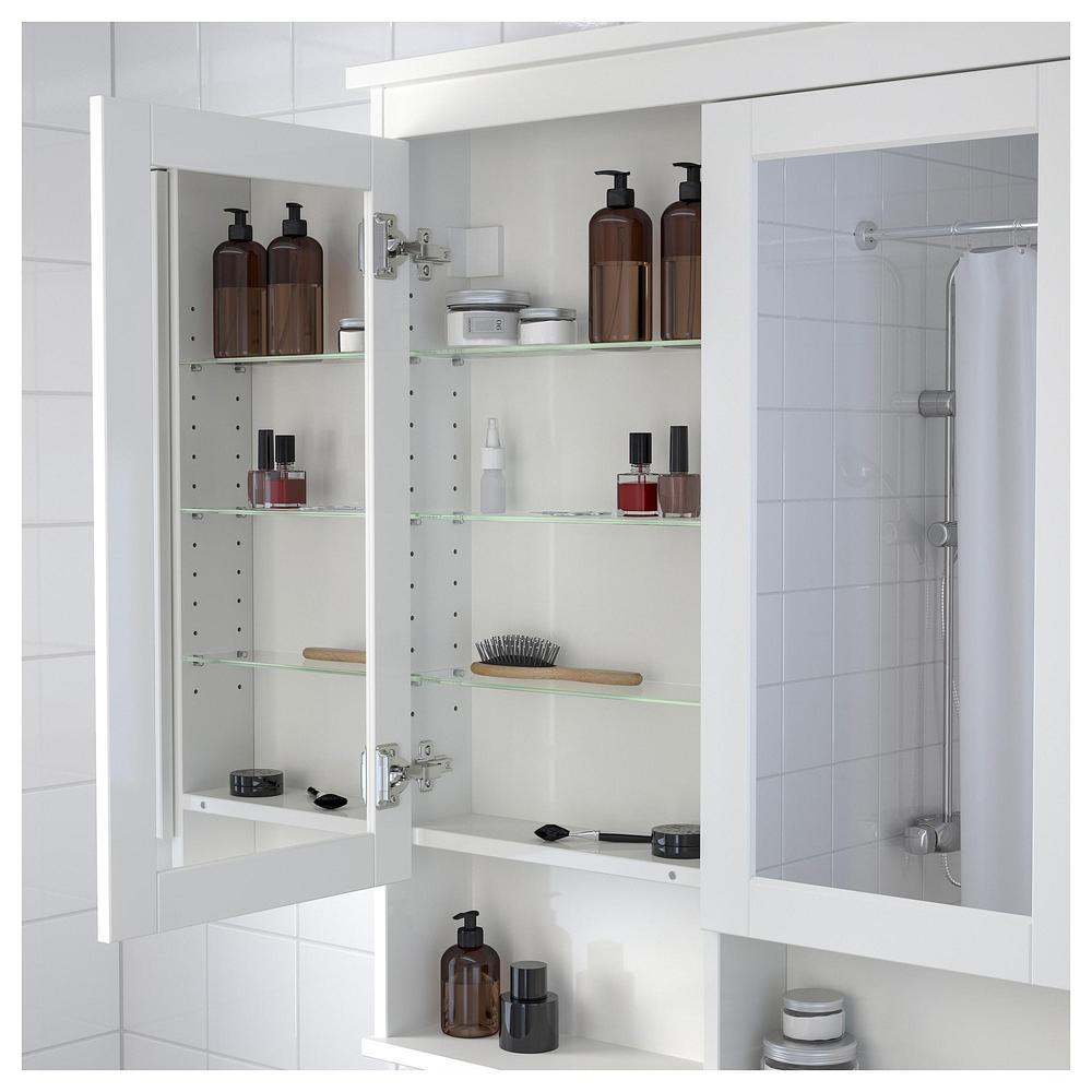 HEMNES Spiegelkastje met 2 deuren - wit, 83x16x98 cm (103.690.16 ...