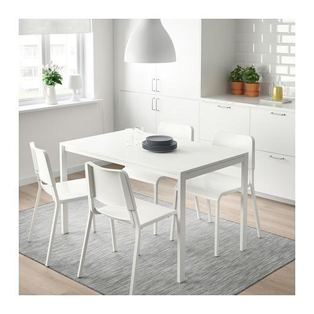 MELLTORP bord hvit 75x74 cm