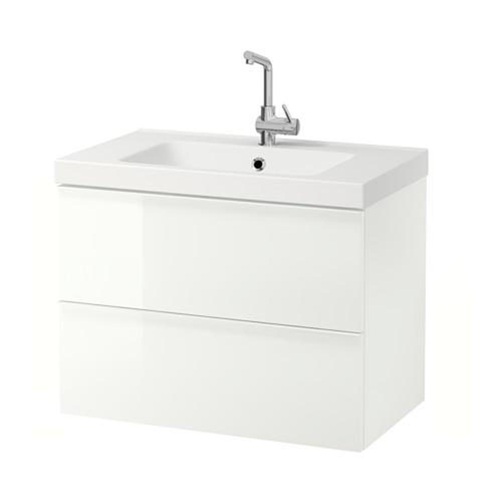 ODENSVIK / GODMORGON meuble vasque avec tiroir 17 blanc brillant