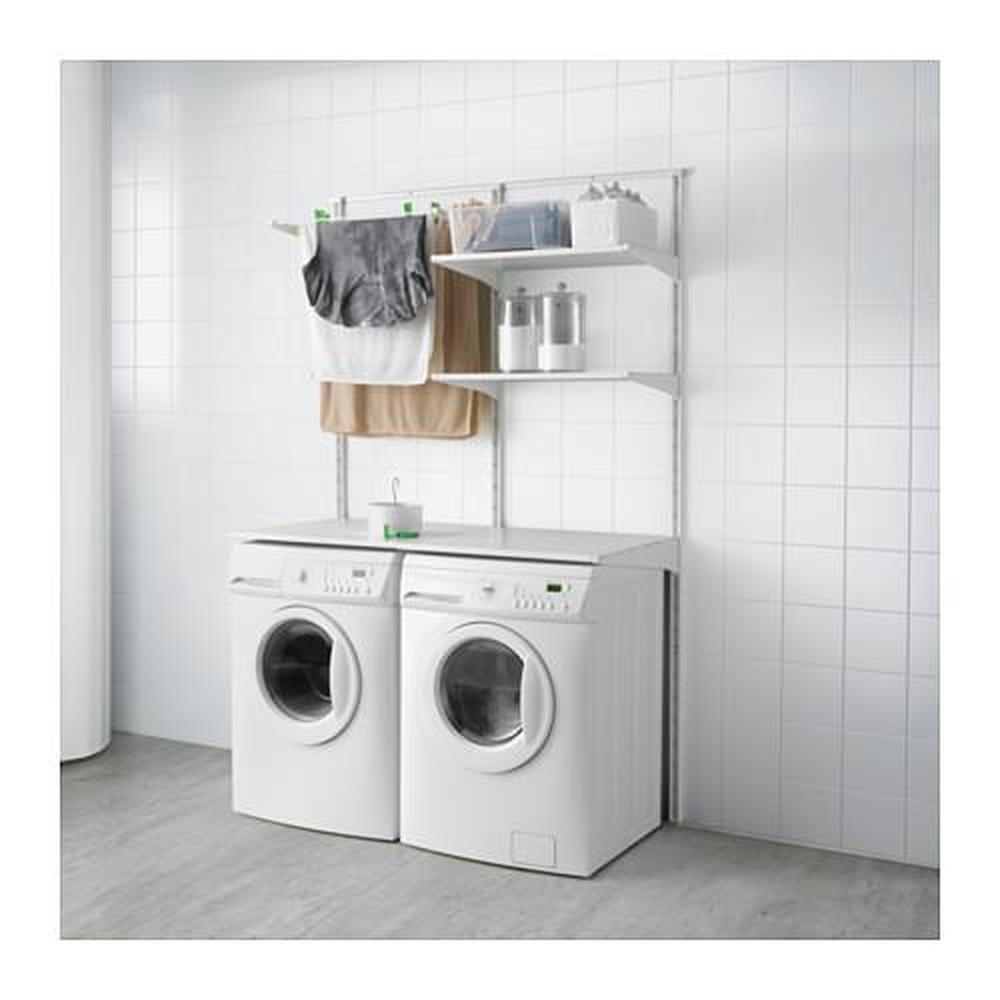 Appendere Asciugatrice Al Muro algot binario / mensole / asciugatrice bianco 132x61x197 cm