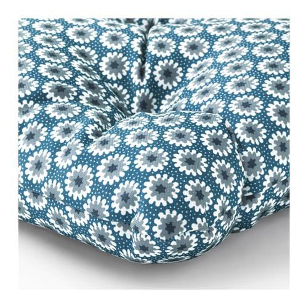 YTTERÖN cuscino per sedia da giardino blu 40x40 cm