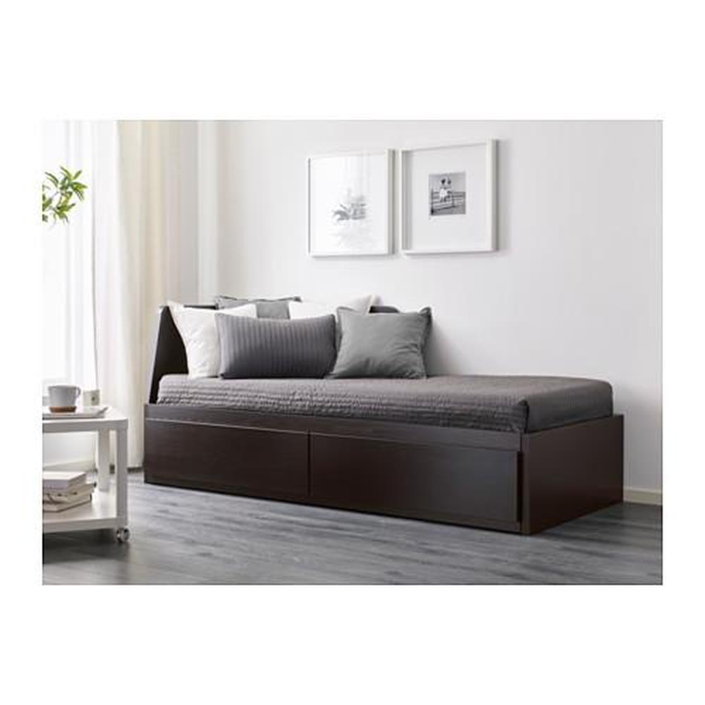 flekke couchgestell mit 2 schubladen schwarzbraun bewertungen preis wo zu kaufen. Black Bedroom Furniture Sets. Home Design Ideas