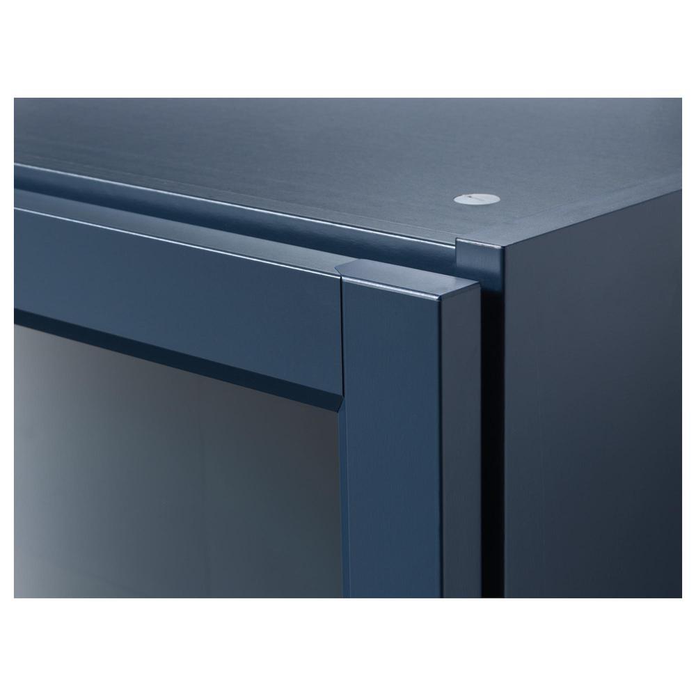 Ikea Billy Kast Glazen Deuren.Billy Boekenkast Met Glazen Deuren Donkerblauw 203 238 05