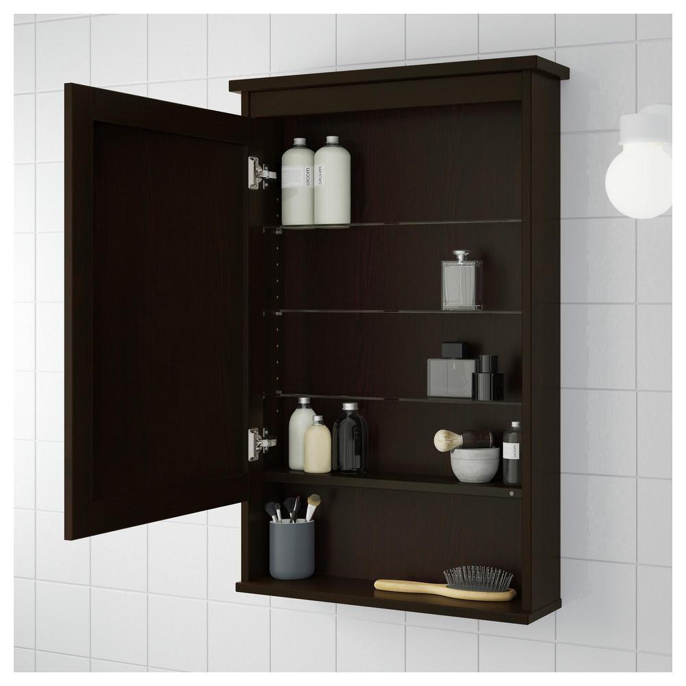 HEMNES Espelho Gabinete Com Porta 1   Mancha Castanha Preta