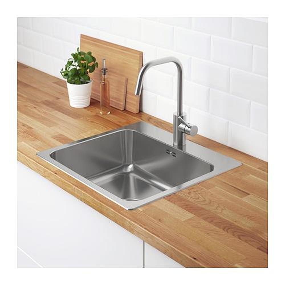 LÅNGUDDEN single mortise sink stainless steel 56x53 cm ...
