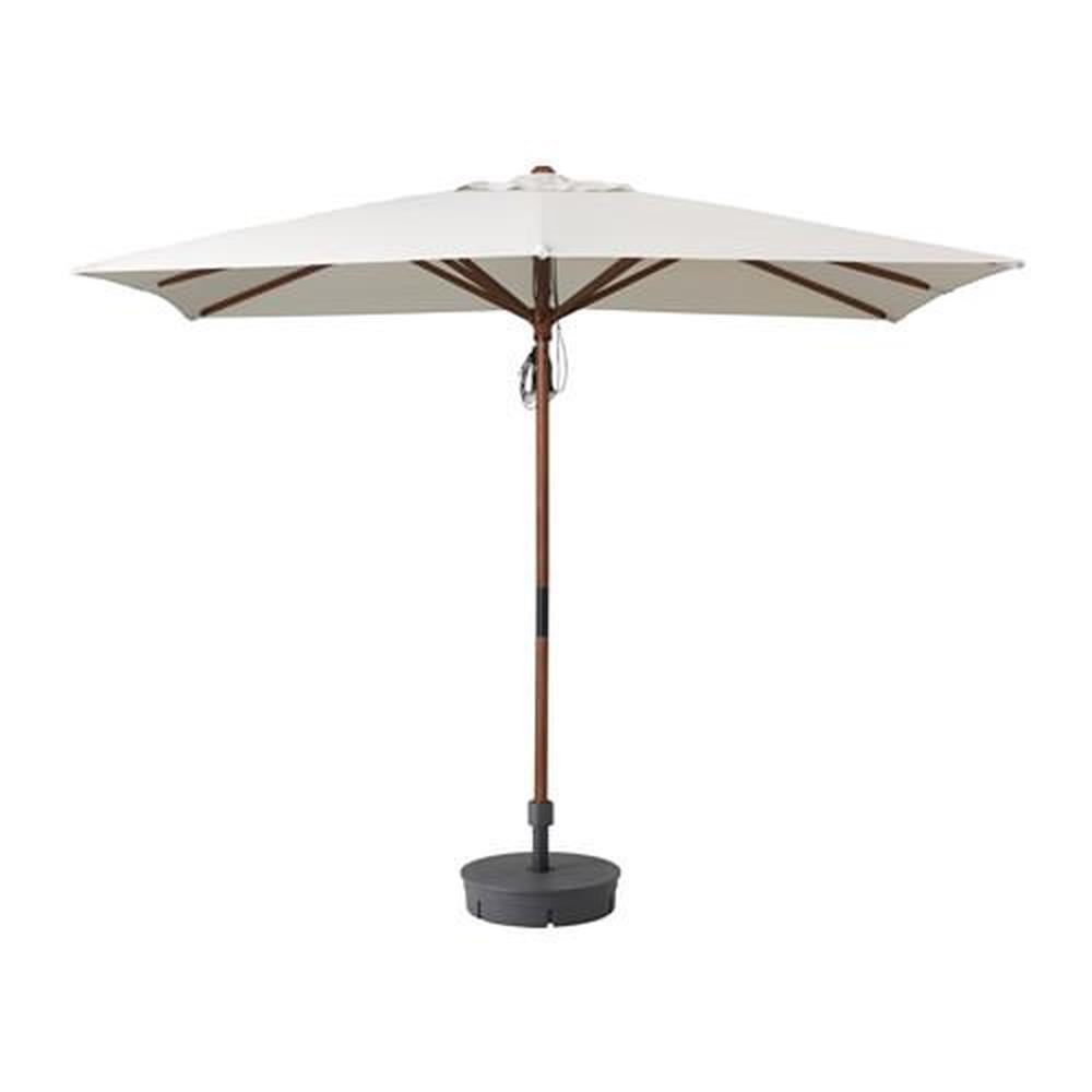 LÅNGHOLMEN parasoll med støtte (292.708.93) omtaler, pris