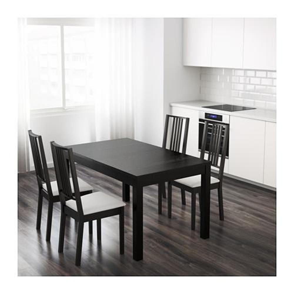 Ikea Tafel Bjursta Uitschuifbaar.Bjursta Uitschuiftafel Bruin Zwart 301 162 64 Reviews