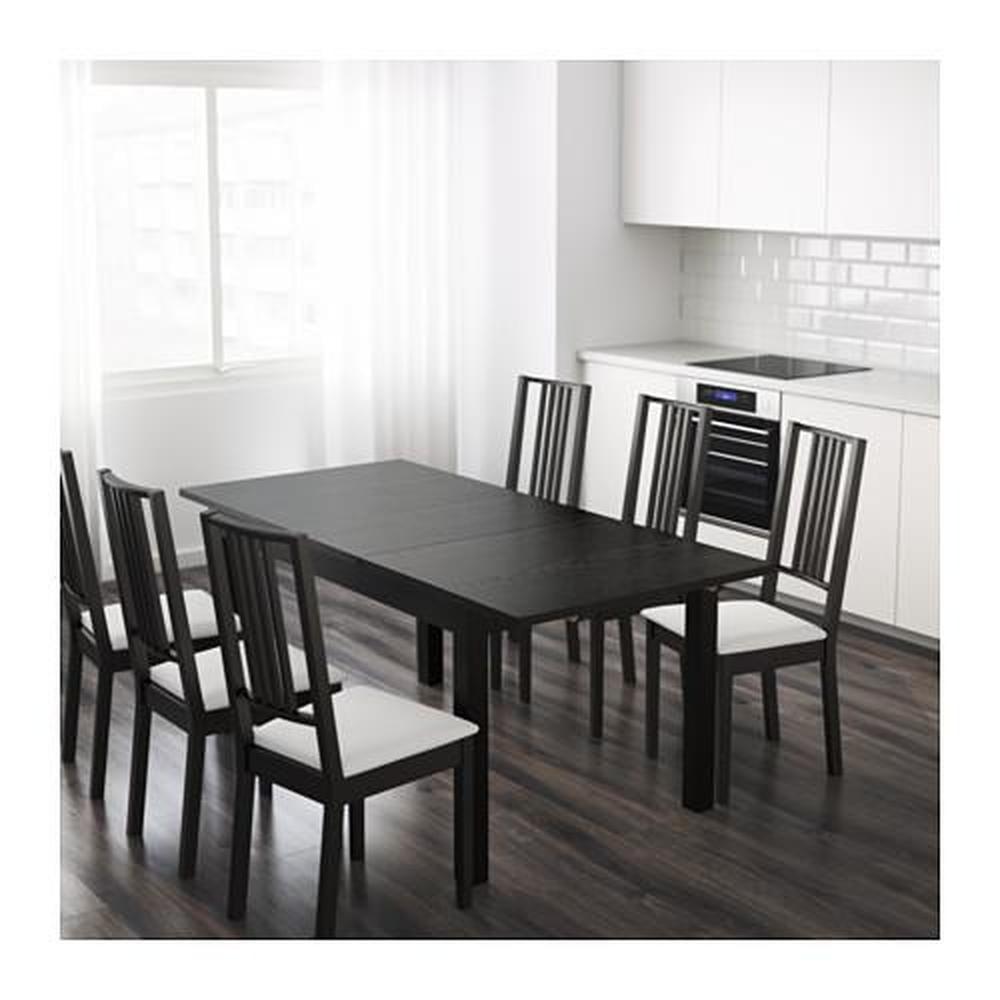 BJURSTA ausziehbarer Tisch braun schwarz