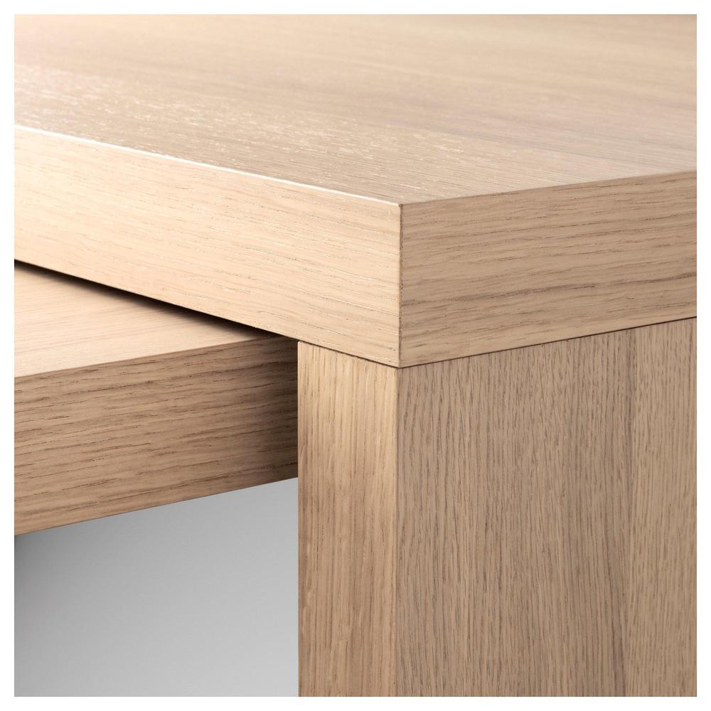 malm schreibtisch mit ausziehbarer platte eichenfurnier gebleicht bewertungen. Black Bedroom Furniture Sets. Home Design Ideas