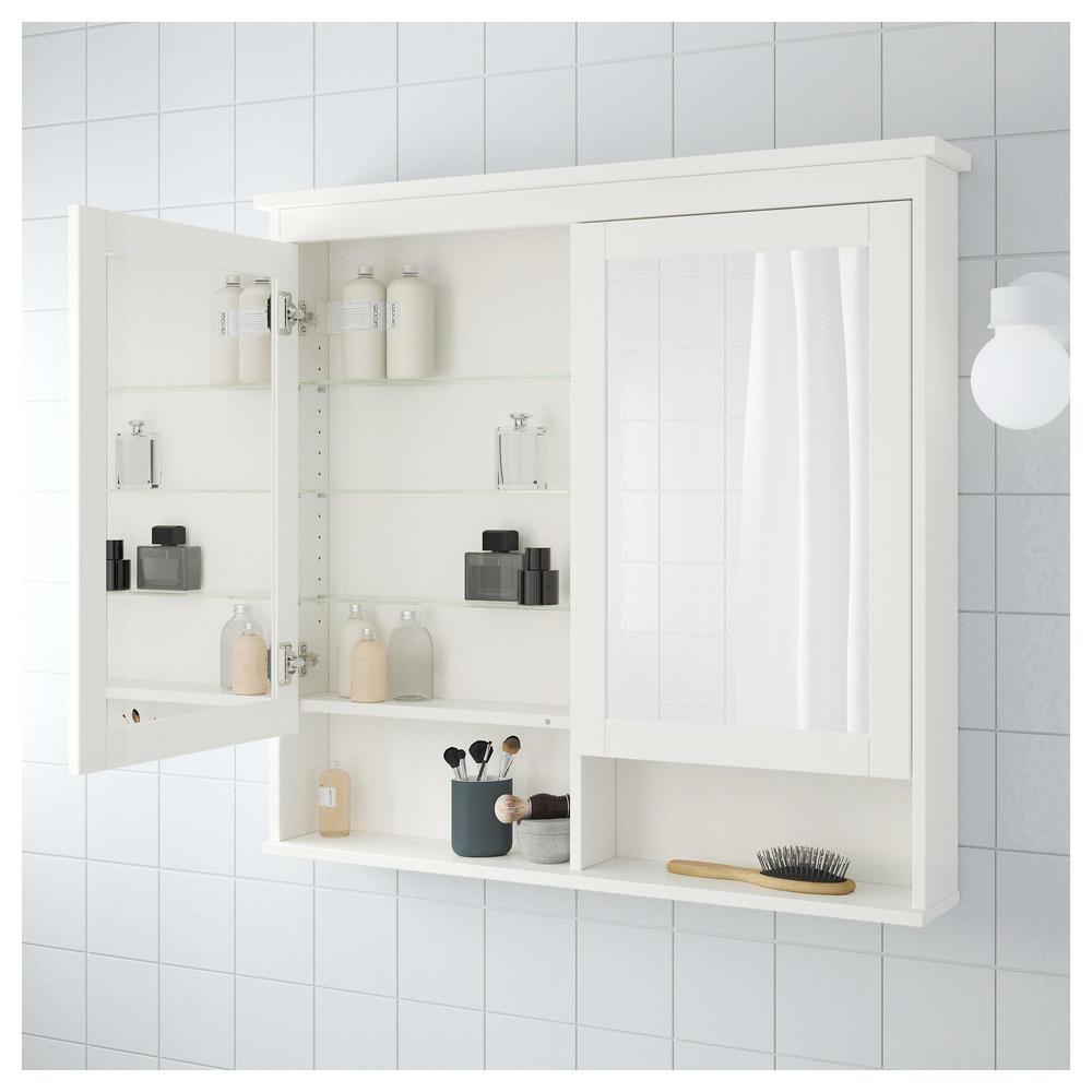 HEMNES Spiegelschrank mit 2 Türen - weiß, 103x16x98 cm (303.690.15 ...
