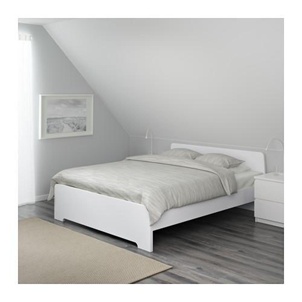 Cadre Photo Sur Pied Ikea cadre de lit askvoll blanc / lonset 140x200 cm