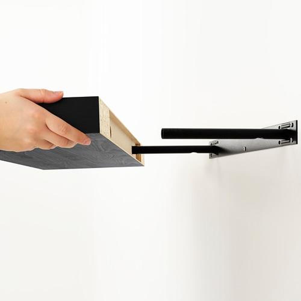 Lack Wandplank Bevestiging.Lack Plank Scharnierend Zwart Bruin 110x26 Cm 401 036 33 Reviews