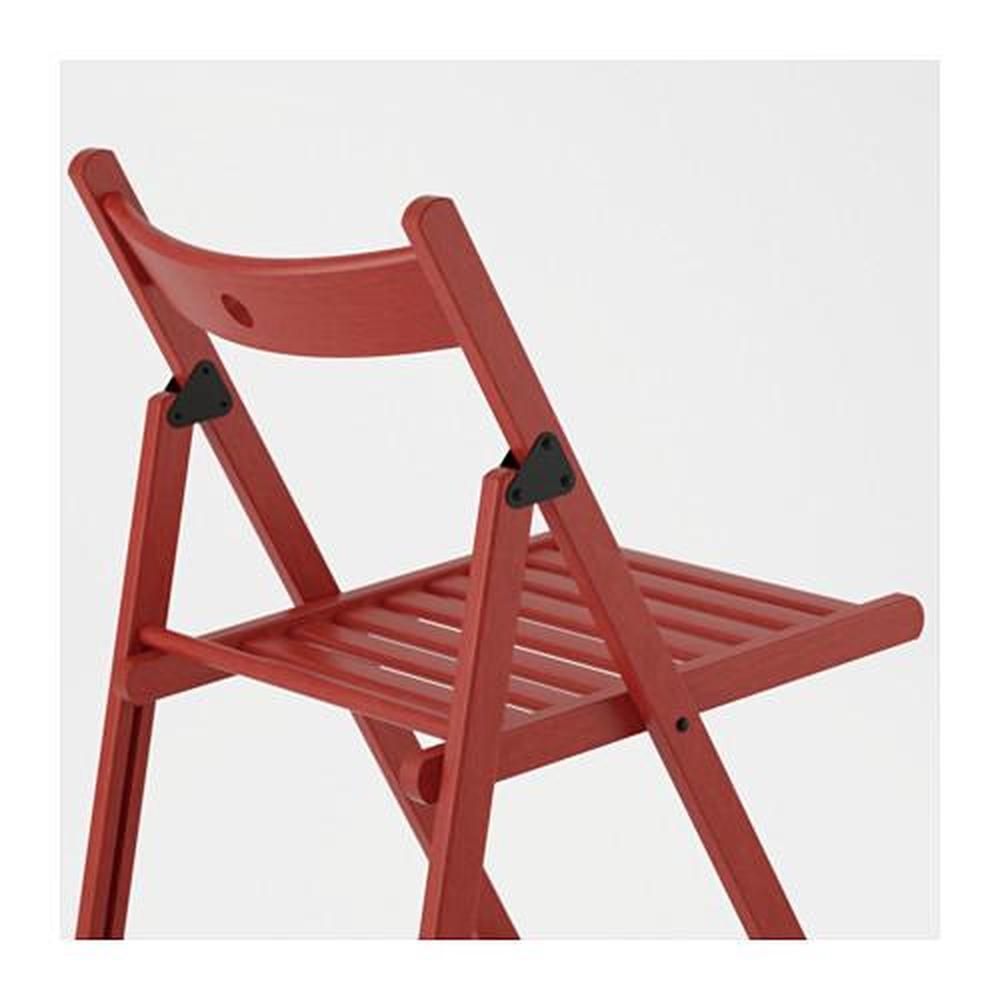 Czerwone krzesło składane TERJE