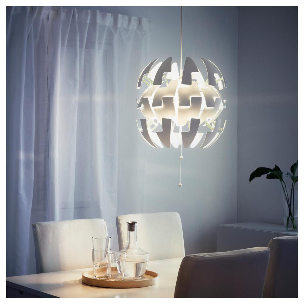 ikea ps 2014 hanging lamp white turquoise - Ikea Lampe Ps 2014