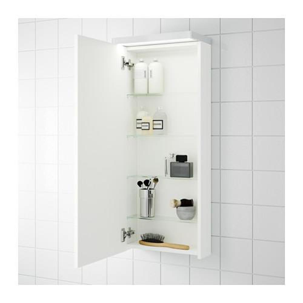 Ikea Mobili Bagno Pensili godmorgon pensile con anta 1 bianco 40x14x96 cm