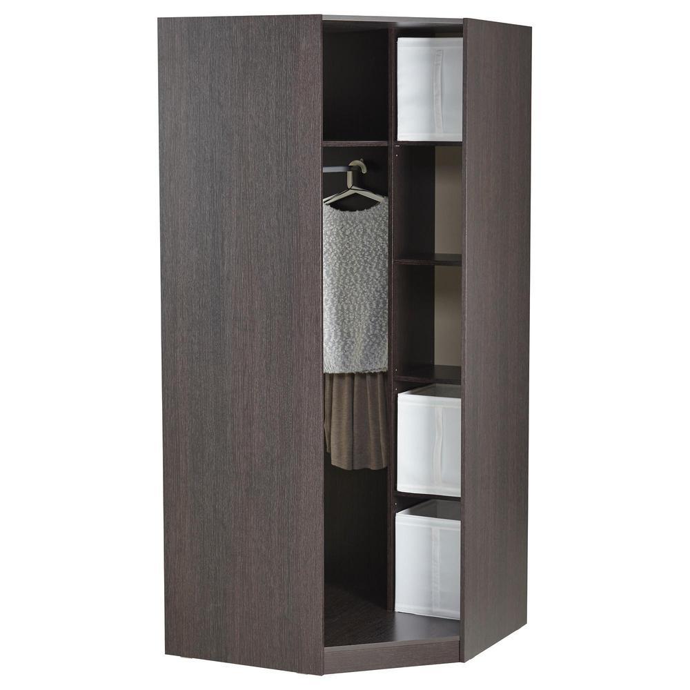 Тодален гардероб угловой - черно-коричневый (402.852.75) - о.
