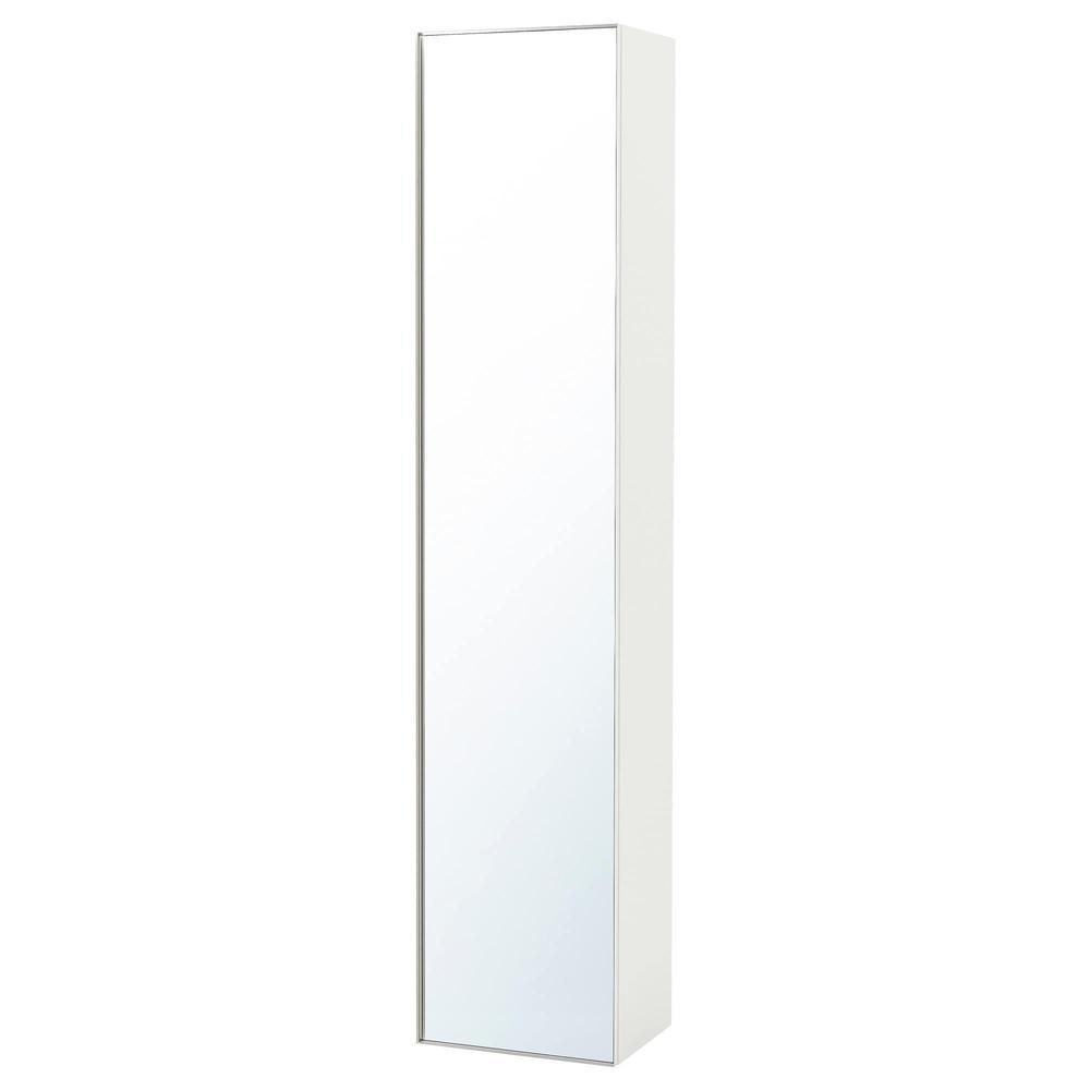 Brillant Blanc Armoire Godmorgon Miroir Avec Porte Haute qUGVpSzM