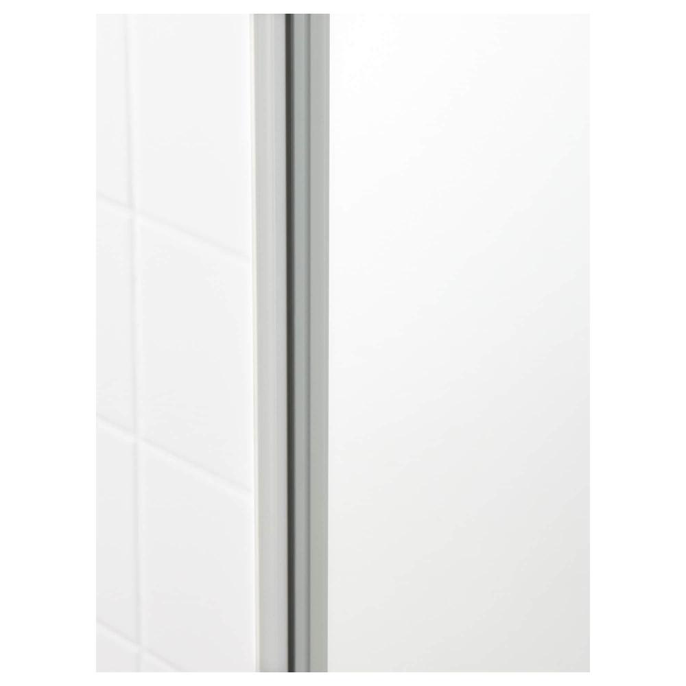 Blanc Haute Godmorgon Porte Miroir Brillant Avec Armoire Nn0wX8OPk